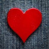 Rustikales rotes Herz stockbilder
