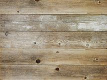 Rustikales Sonnenbräunebraun verwitterte hölzernen Bretthintergrund der Scheune lizenzfreie stockfotos