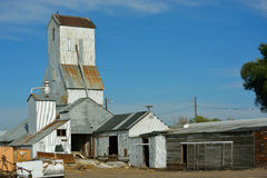 Rusting Antique Agriculture Grain Elevator Stock Images