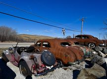 Rusting Antique Cars Royalty Free Stock Images