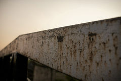 Rusting Canal Bridge - Leeds/Liverpool Canal Royalty Free Stock Images