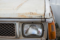 Rusting car head light Royalty Free Stock Photo