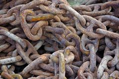Rusting chain Royalty Free Stock Photo