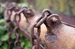 Rusting chains Stock Image