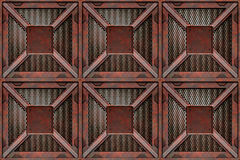 Rusting crates freight boxes Royalty Free Stock Photo