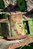 Rusting and decay metal farm equipment stock photography