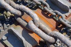 Rusting Dry Dock Chains and Rust Royalty Free Stock Photography
