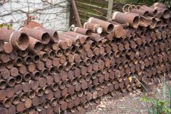 Rusting First World War Artillery Shell Cases Royalty Free Stock Photo
