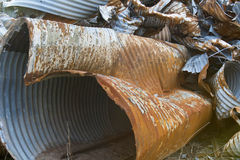 Rusting Metal Drainage Pipes Stock Photos