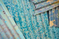 Rusting metal fencing or siding Royalty Free Stock Photo