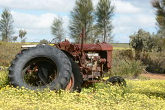 Rusting old Fordson agricultural tractor Royalty Free Stock Photos