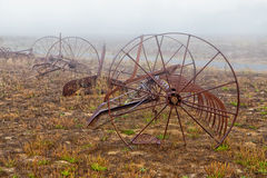 Rusting Old Horse Drawn Tiller Plow Royalty Free Stock Image