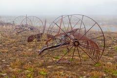 Rusting Old Horse Drawn Tiller Plow royalty free stock image