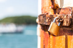 Rusting Padlock Stock Photos