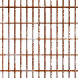 Rust prison bars. Rustic prison strong bars and braces. Oxidized bar cage rusty texture. PNG image with transparent background Royalty Free Stock Images
