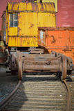 Rusting Rail yard equipment on the tracks Royalty Free Stock Image