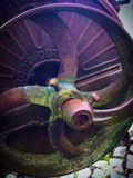 Rusting root cutter. Vintage agricultural machinery Royalty Free Stock Photography