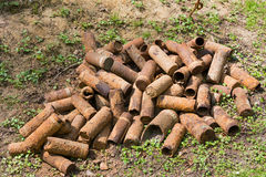 Rusting shell cases from WWI Stock Photo