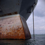 Rusting ship bow Stock Images