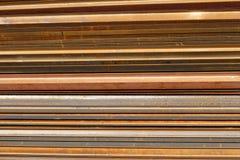 Rusting steel. Horizontal rusting steel stock image