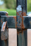 Rusting Steel Gate Latch Royalty Free Stock Photography