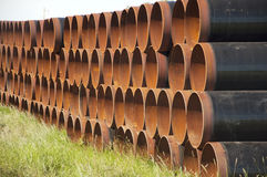 Rusting steel pipes Royalty Free Stock Images