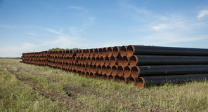 Rusting steel pipes Royalty Free Stock Photo