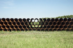 Rusting steel pipes Stock Photos