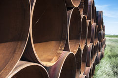 Rusting steel pipes Royalty Free Stock Photos