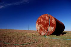 Rusting tank object in Bessarabia Royalty Free Stock Images