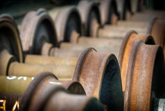 Rusting Train Axles Stock Photography