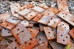 Rusting Train Track Components Stock Images