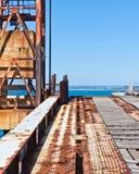 Rusting Wharf machinery. Stanley, Tasmania Royalty Free Stock Photography