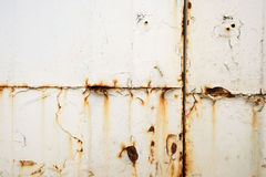 Free Rusting White Painted Metal Sheet Surface Stock Photos - 78350783