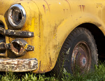 Rusting Yellow Truck Detail Royalty Free Stock Photo