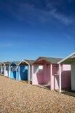 Rustington Beach Huts. Beach Huts at Rustington, Sussex, UK Stock Photo