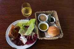 Rustique dinez et vin chez la vallée Barossa photographie stock libre de droits