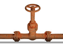 Rustry Industrial pipe Stock Photography
