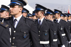 Rustu unsal police academy students. Stock Images