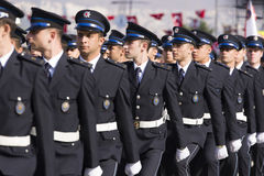 Rustu unsal police academy students. Royalty Free Stock Images