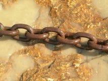 rusty łańcuszkowy Zdjęcia Stock