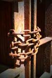 rusty łańcuszkowy Fotografia Royalty Free