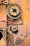 Rusty. Background of rusty metal machine parts Royalty Free Stock Image