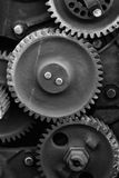 Rusty. Background of rusty metal machine parts - black & white Royalty Free Stock Photo