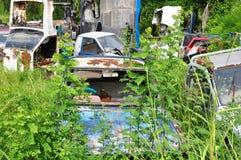 Rusty Abandoned Cars Foto de archivo libre de regalías
