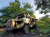 Rusty Abandoned Dump Truck Fotos de Stock