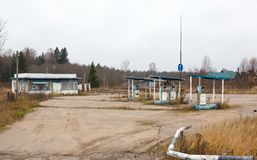 Rusty abandoned gas station Royalty Free Stock Photography