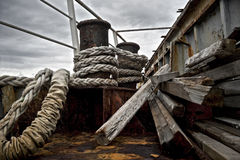 Rusty abandoned ship Stock Photo