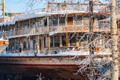 Rusty abandoned river ships Royalty Free Stock Image