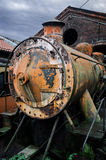 Rusty abandoned steam locomotive Royalty Free Stock Photography
